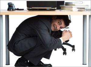 Business editor hiding