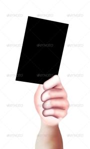 Hand Black Card