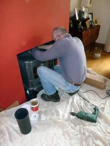 McNeill fitting his 600th stove