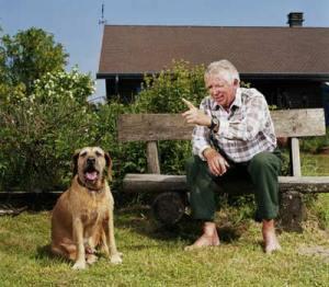 Clonoe man and dog discuss religion
