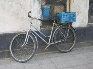 An exemplary parked bike in Coalisland