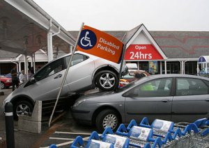 Congestion in Tesco car park