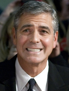 Clooney winces at song choice