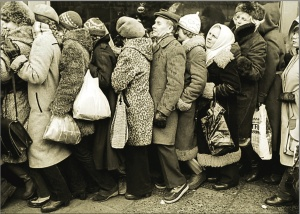 Queue for tickets for Omagh circumcision event