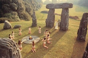 Ritual on Brackaville Golf Course during the '99 eclipse