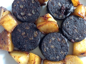 Black puddings and spuds