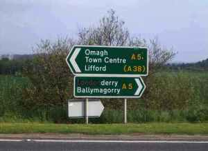 londonderry, derry sign