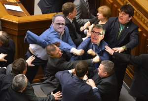 An Artist's Impression Of Stormont Melee
