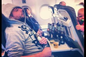 Seamie Corrigan, on plane