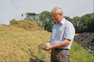 Man in the form for a bit of hay rolling